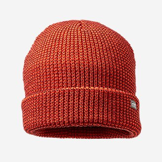 Men's Mini-Stripe Beanie in Red