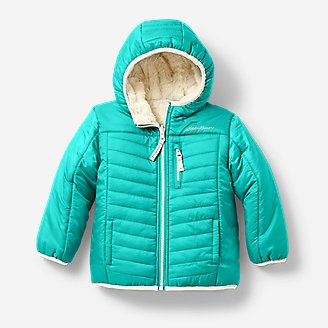 Toddler Girls' Deer Harbor Reversible Hooded Jacket in Blue
