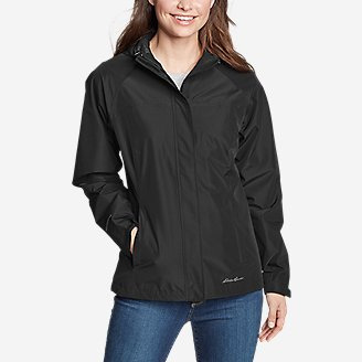 Women's Rainfoil Packable Jacket in Black