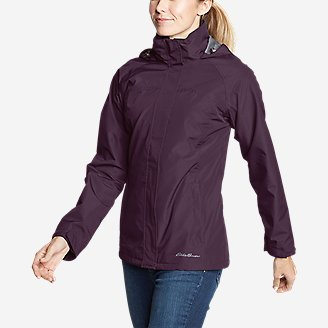 Women's Rainfoil Packable Jacket in Purple