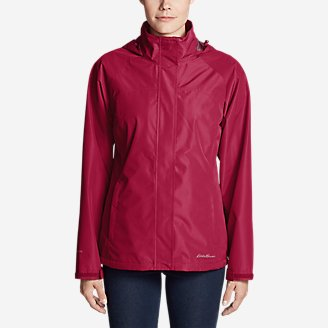 Women's Rainfoil Packable Jacket in Red