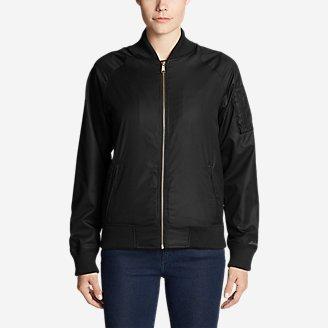 Women's Winslow Fleece-Lined Bomber Jacket in Black