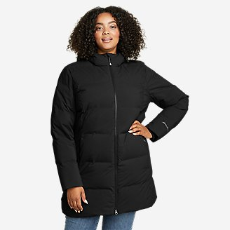 Women's Glacier Peak Seamless Stretch Down Parka in Black