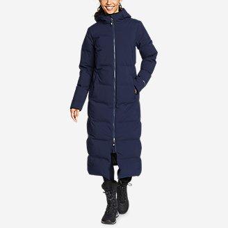 Women's Glacier Peak Seamless Stretch Down Duffle Coat in Blue