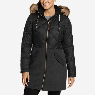 Women's Lanely Hybrid Down Parka in Black