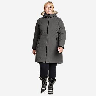 Women's Olympia Waterproof Down Stadium Coat in Gray