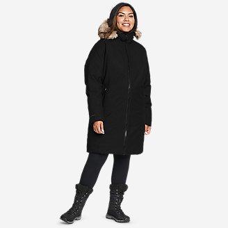 Women's Olympia Waterproof Down Stadium Coat in Black