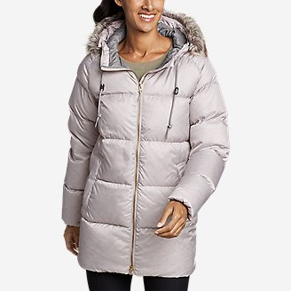 Women's CirrusLite Down Side-Zip Parka in Gray