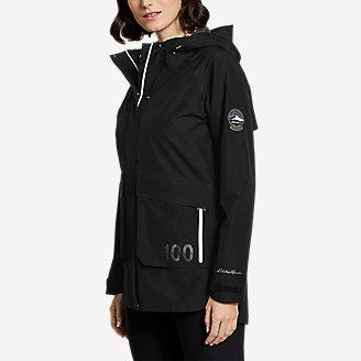 Women's Centennial Collection Convertible Rain Jacket in Black