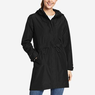 Women's Rainfoil Trench in Black