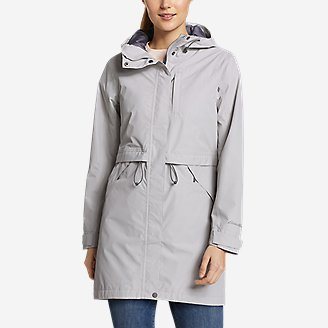 Women's Rainfoil Trench in Gray