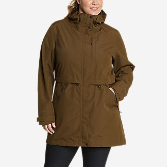 Women's Rainfoil Trench in Green