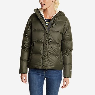 Women's Stratuslite Down Sherpa-Lined Hoodie in Green