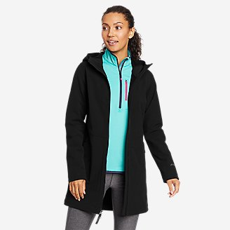 Women's Windfoil Thermal Trench Coat in Black