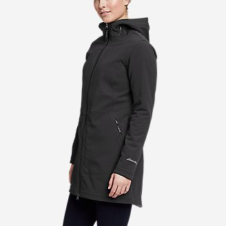 Women's Windfoil Thermal Trench Coat in Gray