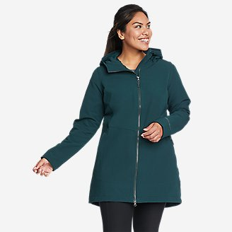 Women's Windfoil Thermal Trench Coat in Green