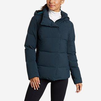Women's Glacier Peak Seamless Stretch Down Hooded Jacket in Green
