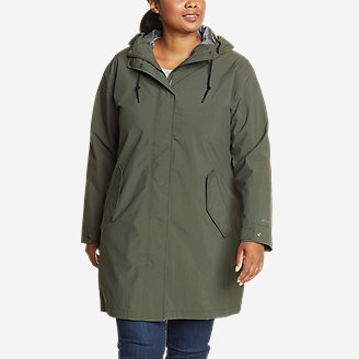 Women's Port Townsend Trench Coat in Green