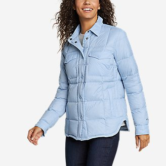 Women's Stratuslite Down Shirt Jacket in Blue
