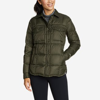 Women's Stratuslite Down Shirt Jacket in Green