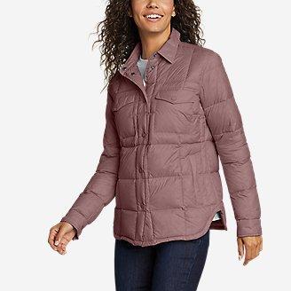 Women's Stratuslite Down Shirt Jacket in Pink