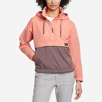Women's WindPac Anorak in Orange