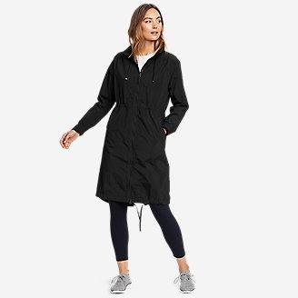 Women's WindPac Trench Coat in Black