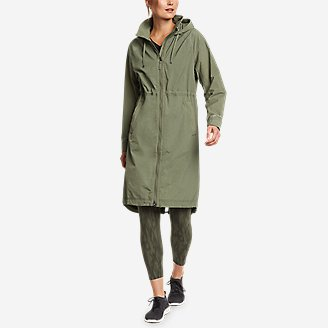 Women's WindPac Trench Coat in Green