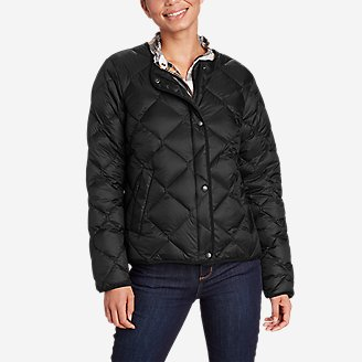 Women's Stratuslite Quilted Down Jacket in Black