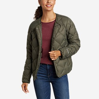 Women's Stratuslite Quilted Down Jacket in Green