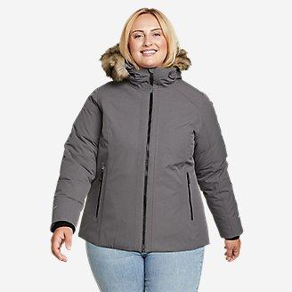 Women's Olympia Waterproof Down Jacket in Gray
