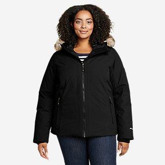 Women's Olympia Waterproof Down Jacket in Black