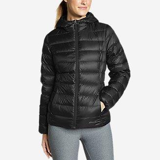 Women's CirrusLite Down Hooded Jacket in Black