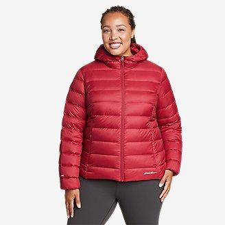 Women's CirrusLite Down Hooded Jacket in Red