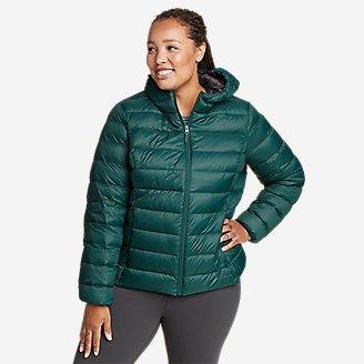 Women's CirrusLite Down Hooded Jacket in Green