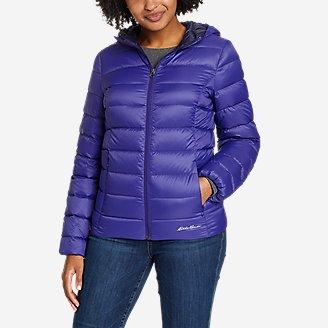 Women's CirrusLite Down Hooded Jacket in Blue