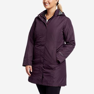 Women's Girl On The Go Insulated Trench Coat in Purple