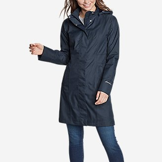 Women's Girl on the Go Trench Coat in Blue