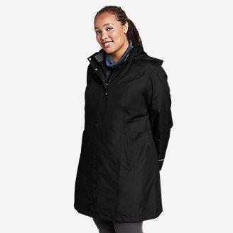 Women's Girl on the Go Trench Coat in Black