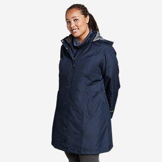 Women's Girl on the Go Trench Coat in Blue