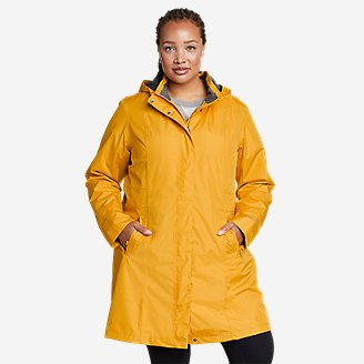 Women's Girl on the Go Trench Coat in Yellow