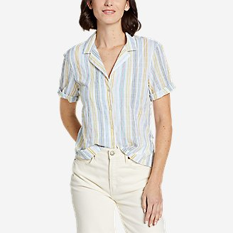 Women's Packable Camp Shirt in White
