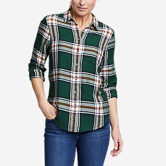 Women's Tranquil One-Pocket Long-Sleeve Shirt - Yarn-Dyed in Green