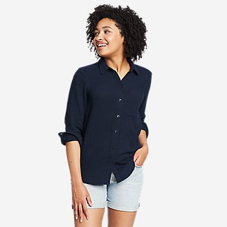 Women's Carry-On Button-Down Shirt in Blue