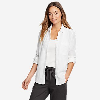 Women's Carry-On Button-Down Shirt in White