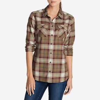 Women's Stine's Favorite Flannel Shirt - Plaid in Brown