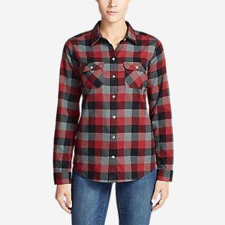 Women's Stine's Favorite Flannel Shirt - Plaid in Red