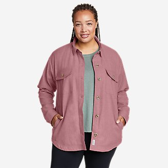 Women's Eddie's Faux Shearling-Lined Shirt Jacket in Blue