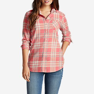 Women's Stine's Favorite Flannel Shirt - Boyfriend in Orange