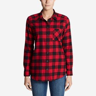 Women's Stine's Favorite Flannel Shirt - Boyfriend in Red